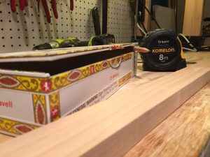 flat-lid cigar box, and hardwood for the neck