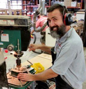 Glenn Watt in the C. B. Gitty Shop