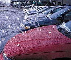 Hail Damage to cars