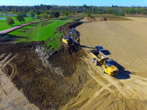 Trimble Earthworks Grade Control on job site