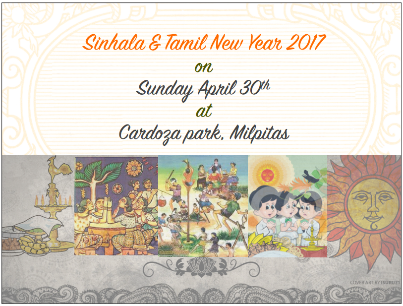 Save the date….. Sinhala and Tamil New Year 2017 – Sunday April 30th