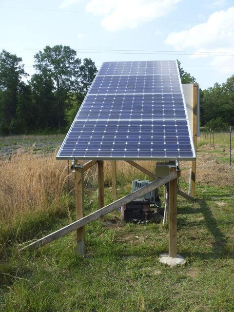 Solar well pump, 1+acres, watermellons and goats