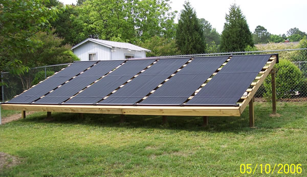 solar pool panel ground mount 2