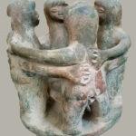 Statue of Friends hugging