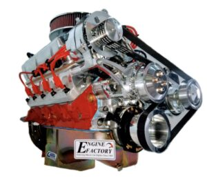 #13 351 Windsor Red Block and wires, Chrome Air Cleaner and Valve covers With Chrome Alternator, and PS Pump