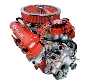 #4 351 Windsor with red wires, red Air Cleaner and Red Valve covers