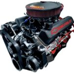 #1383 475 HP black alternator and P/S pump, black intake, black valve covers and black air cleaner