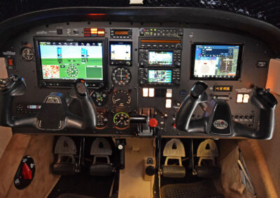 Archer with upgraded Garmin panel