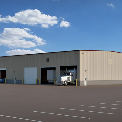 Trailer Repair Facility, industrial building in Phoenix