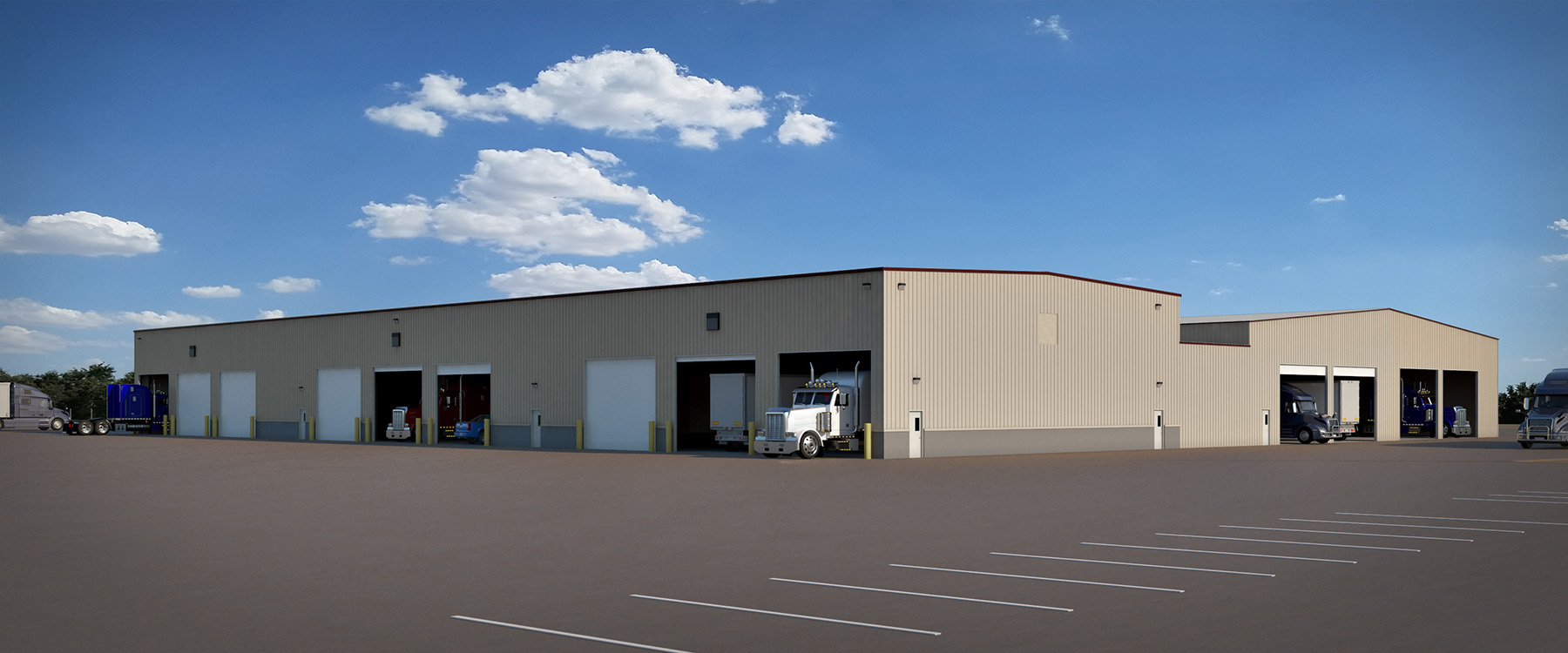 Trailer Repair Facility, industrial building in Phoenix