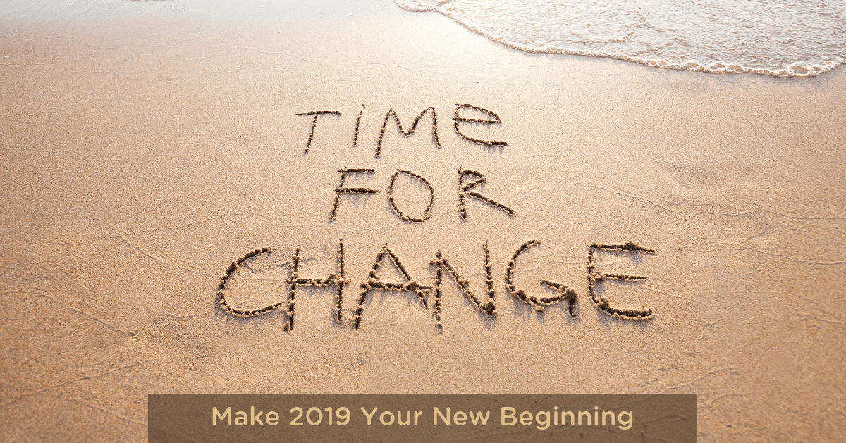 New years is a wonderful time for change.