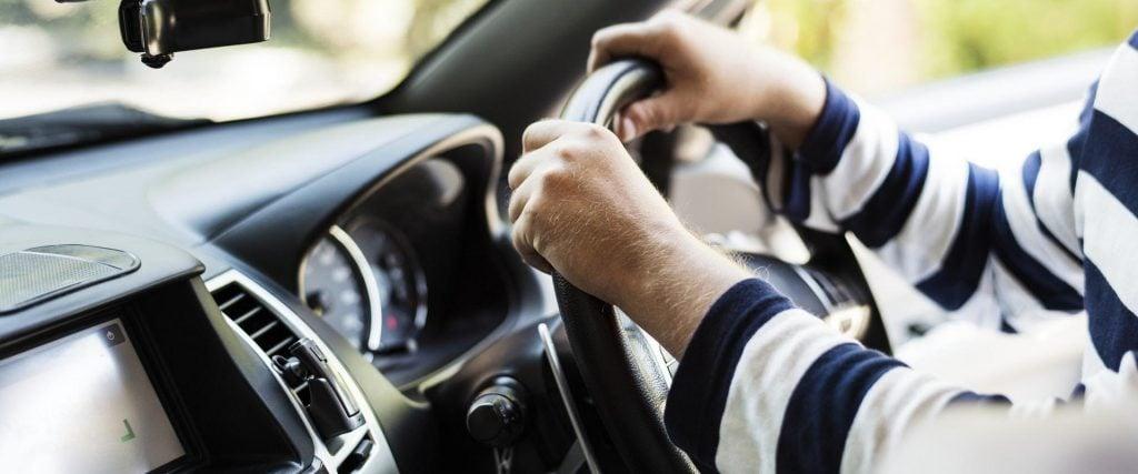 Good driver driving a car