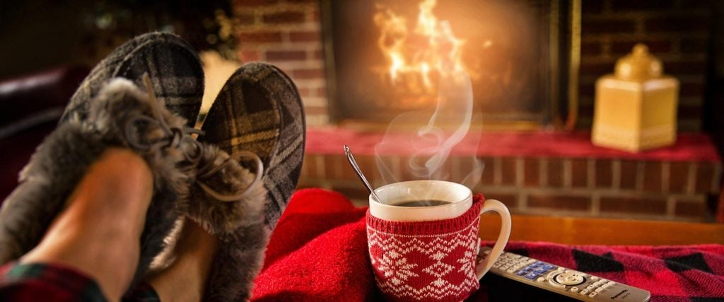 cozy home in winter