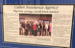Cullen insurance in the news