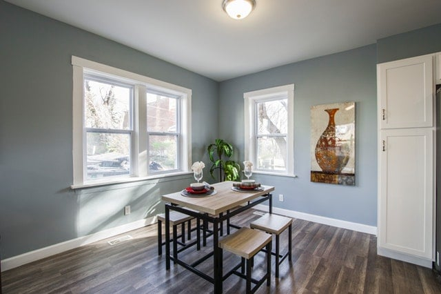 Living room in CA rental property