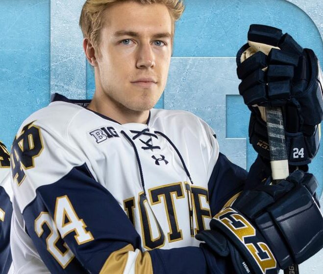 Notre Dame's Spencer Stastney Is My Idea Of What A Hockey Player Should Be Like