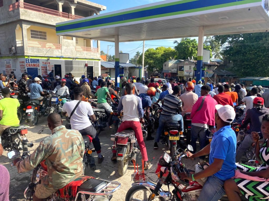 Gas is in such short supply in Haiti