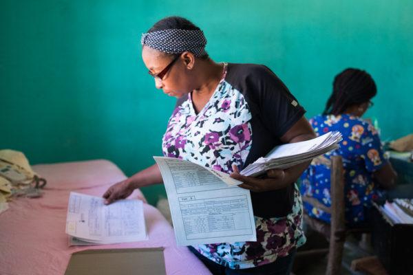 Midwives For Haiti's Mobile Prenatal Clinic. Photo: Cheryl Hanna-Truscott.