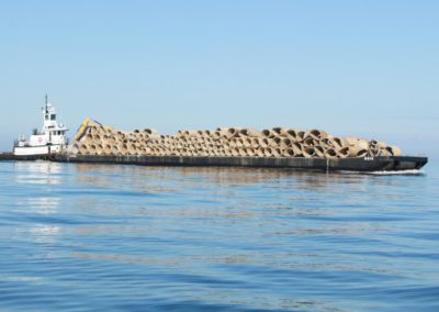 Culverts deployed as artificial reefs