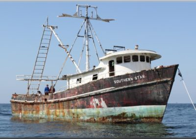 Southern Star, an old shrimp boat