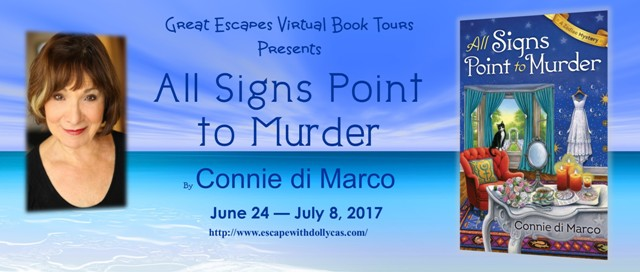 Tour: All Signs Point to Murder, with guest post by Connie di Marco