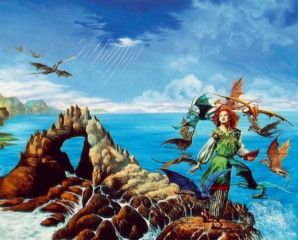 Cover art for Dragonsong, by Anne McCaffrey