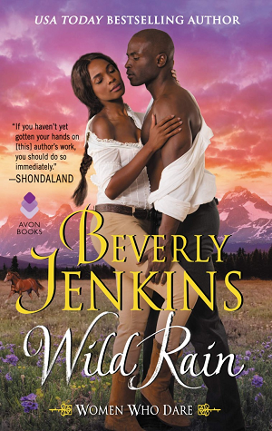 Book cover: Wild Rain, by Beverly Jenkins