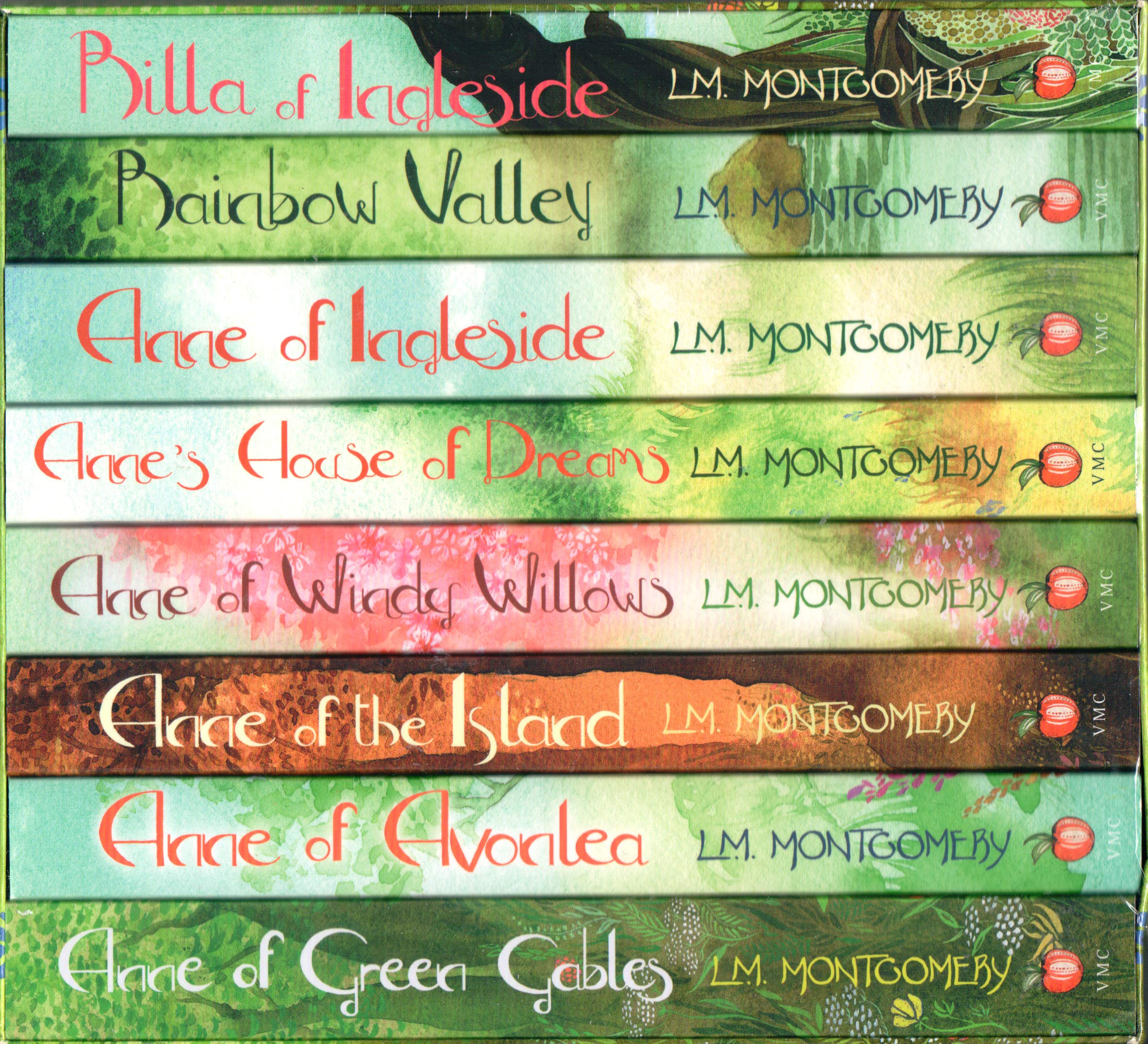 Box set: The Complete Anne of Green Gables Collection, by L. M. Montgomery (Virago edition)