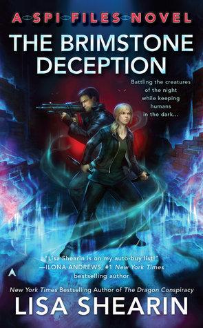 Book cover: The Brimstone Deception, by Lisa Shearin