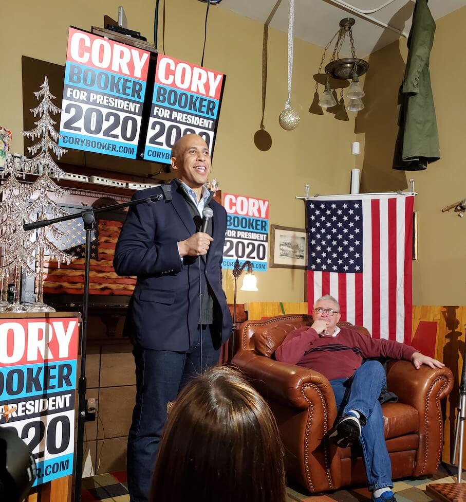 Senator Cory Booker and Representative Mark Smith