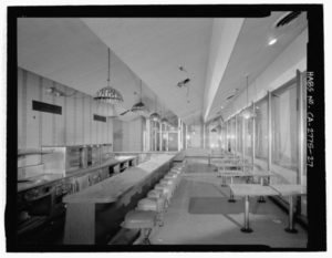 The Holiday Bowl Coffee Shop in 2002 prior to demolition   Library of Congress, Prints & Photographs Division, Historic American Buildings Survey