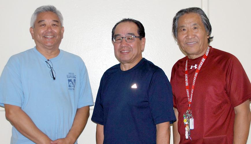 2015 Sr Division Winners: Richard Takeuchi, Sam Wong, John Nishida (Champion)