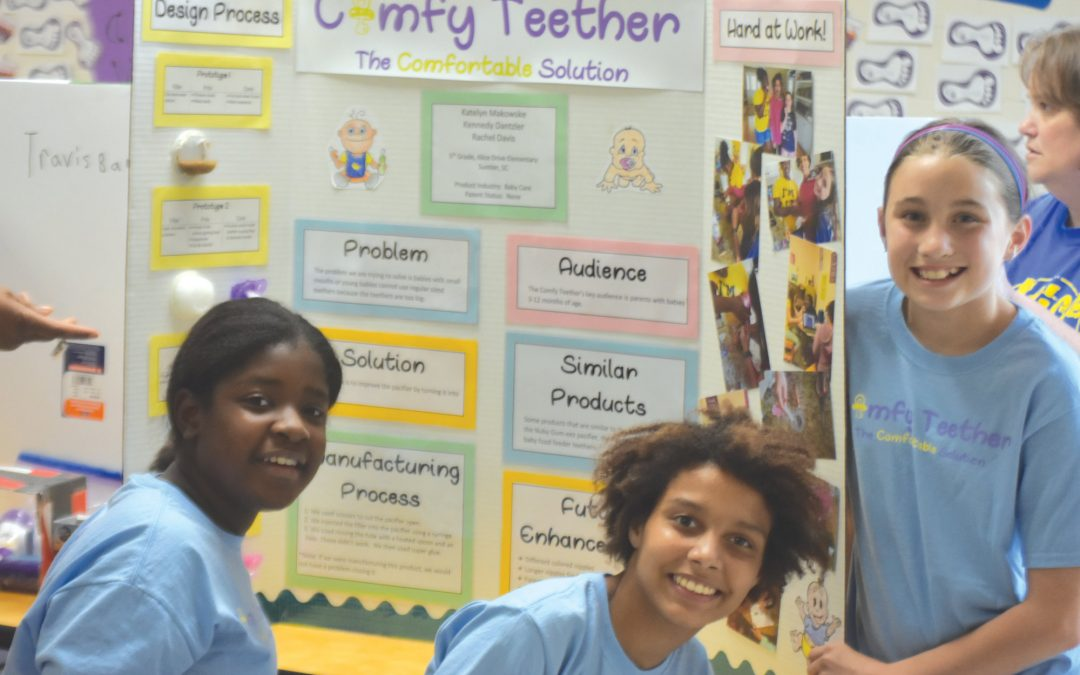 Alice Drive Elementary School students display STEM inventions