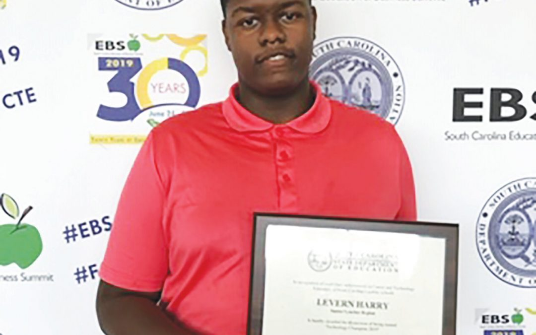 Recent Lee County High School graduate is named tech champion