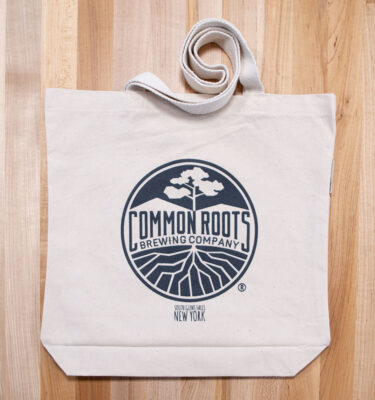 Tote Bag with common roots label