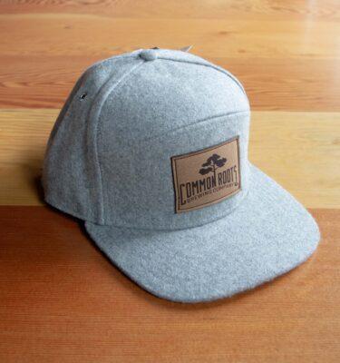 Gray 5-panel hat