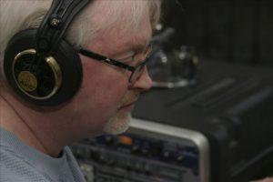 Bruce Hoff Audio Recording.  Photo by Mark Triplett