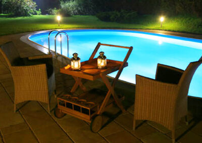 Lighted pool electrical design and installation