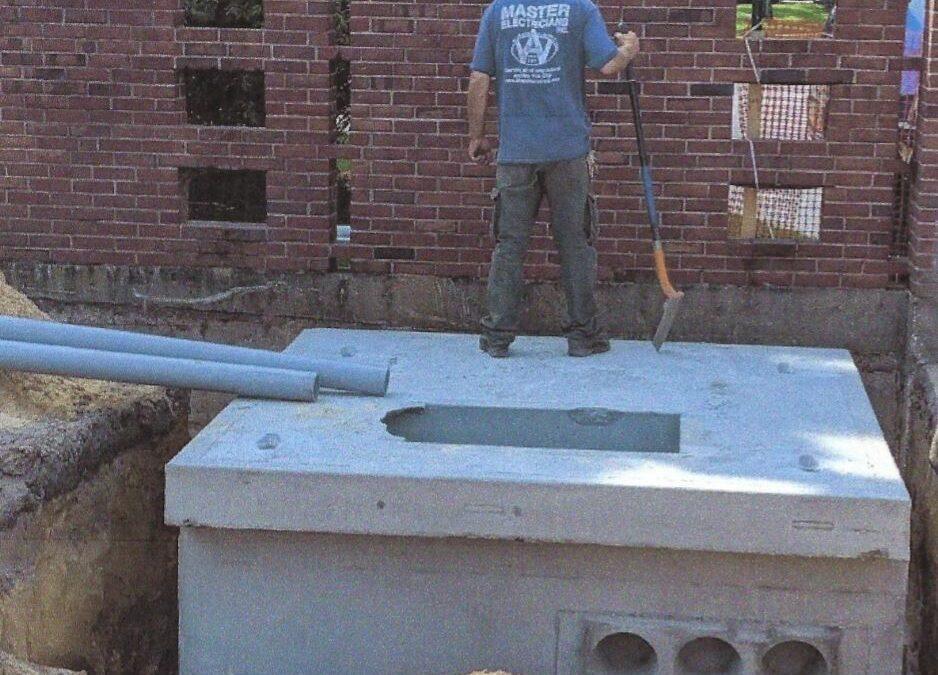 Inground Concrete Junction Box, Smithtown NY