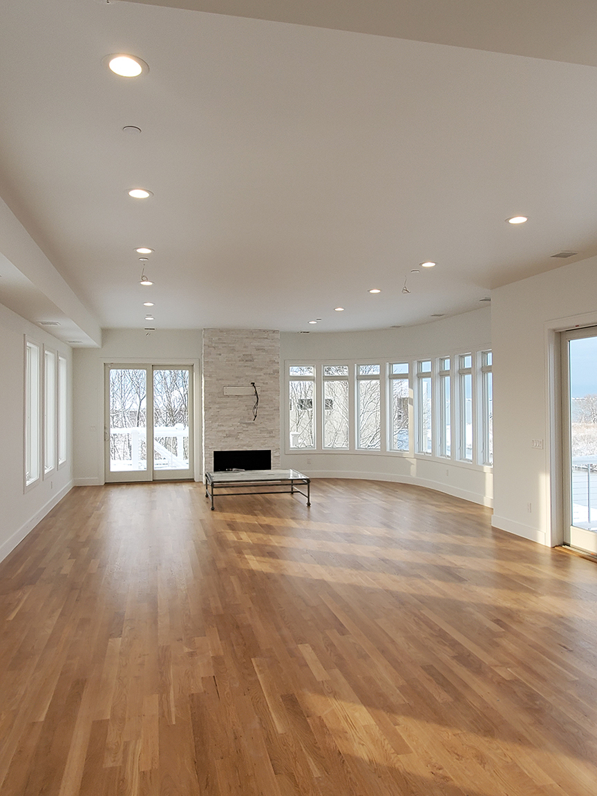 LED Fixtures and Wiring to a Future TV / Entertainment Center in a Family Room in Westhampton NY