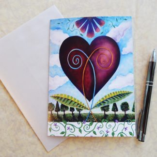 Danasimson.com Gift card bloom together heart gift card with vellum envelope
