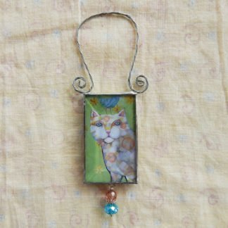 Danasimson.com double sided ornament cat-love each other image