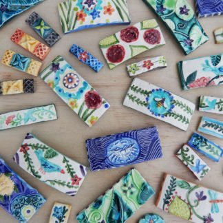 handmade french barrettes in ceramic