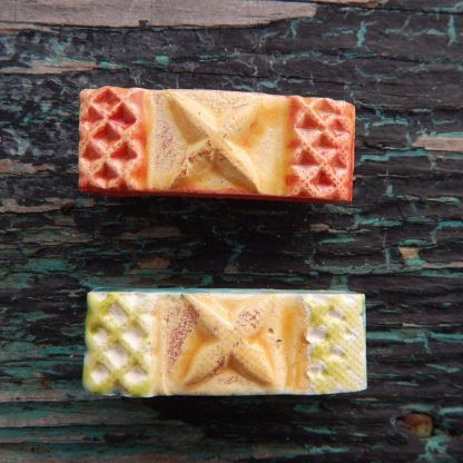 handcrafted ceramic hair clips retro star style