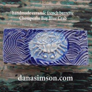 blue crab barrette