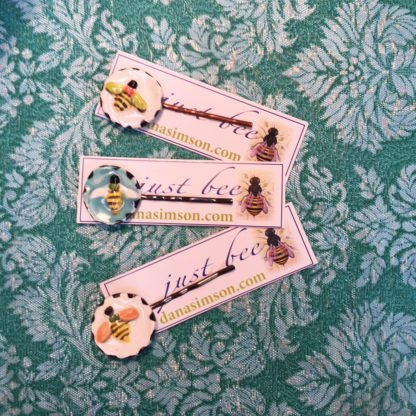 bee hair clips