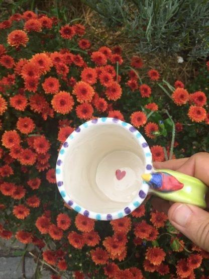 inside bottom of mug shows a little painted heart