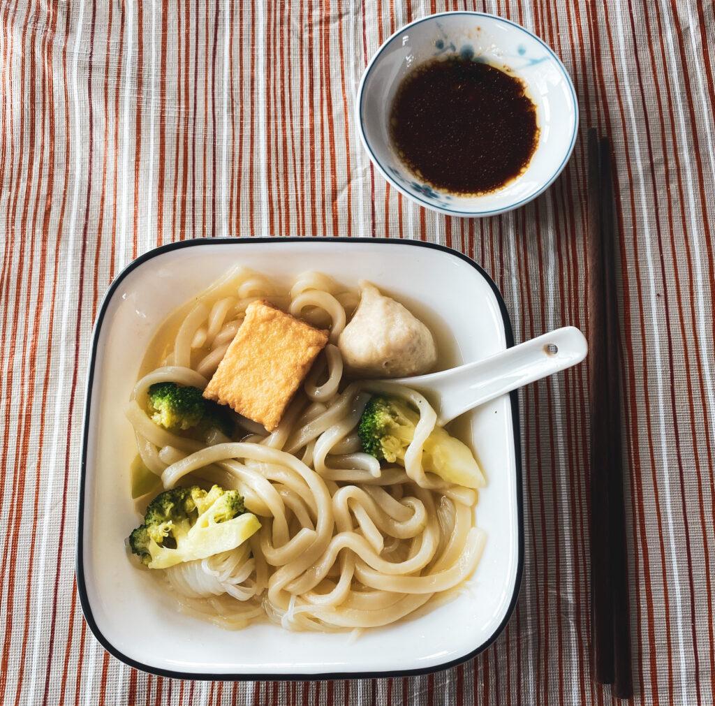 Quarantine - bowl of noodles lunch