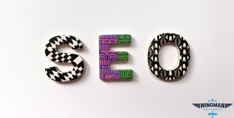 SEO - SEO in patterned text