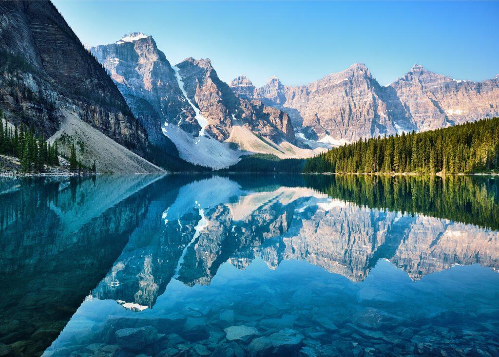 Look forward - Rocky mountain lake